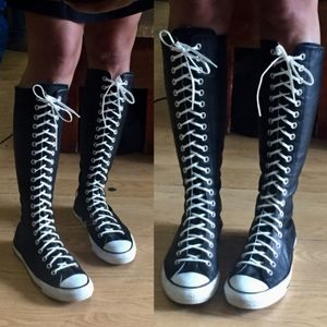 Converse Unisex Leather Knee High Sneakers